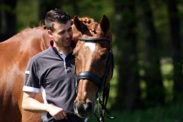 Bronno met dressuurpaard Venture v. Londonderry
